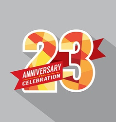 23rd Years Anniversary Celebration Design vector image