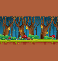 A fairy wood landscape vector