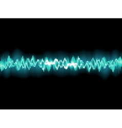Abstract blue waveform EPS 8 vector