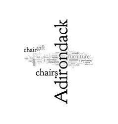 Adirondack chairs a great gift idea vector