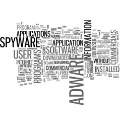 Adware and spyware text word cloud concept vector