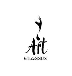 Art company lettering logo design vector