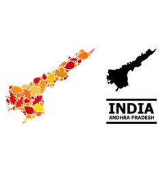 Autumn leaves - mosaic map andhra pradesh state vector