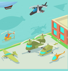 aviation airport concept cartoon style vector image