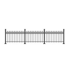 Black forged lattice fence vector