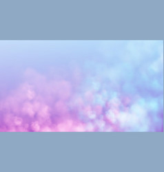 blue and pink smoke cloud on light background vector image
