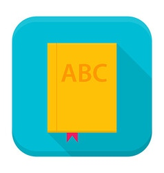 Book app icon with long shadow vector image