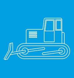 bulldozer icon outline vector image
