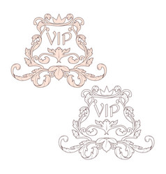 Calligraphic baroque ornament is suitable for vector