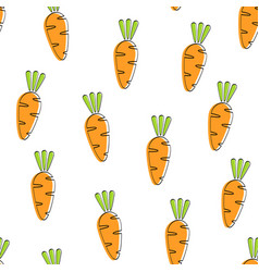 Carrot seamless vegetable pattern design vector