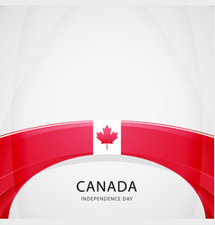 celebrating canada independence day vector image