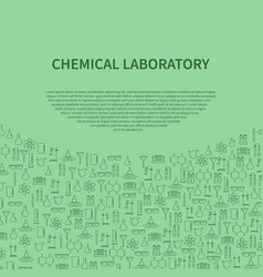chemical laboratory equipment brochure template vector image