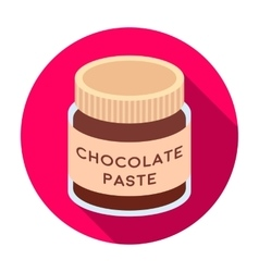 Chocolate paste icon in flat style isolated on vector
