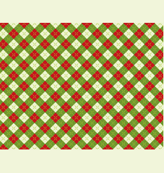 Christmas holiday argyle background pattern vector