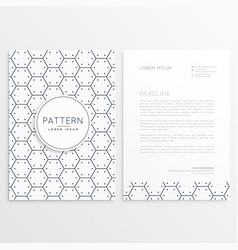 company brochure with minimal pattern vector image