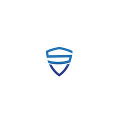 creative shield s letter alphabet logo vector image