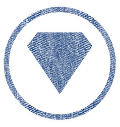 Diamond rounded fabric textured icon vector