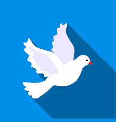 dove icon of for web and vector image