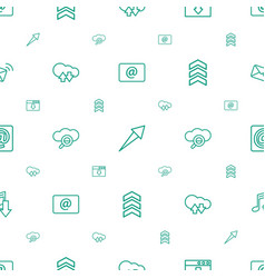 Download icons pattern seamless white background vector