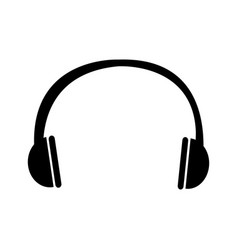 earphone sound isolated icon vector image