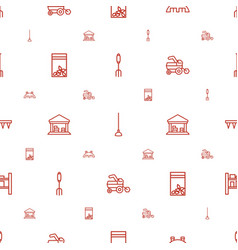 farming icons pattern seamless white background vector image