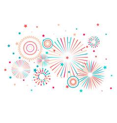 fireworks festive background vector image