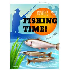 fishing season opening realistic poster vector image