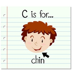 Flashcard letter C is for chin vector
