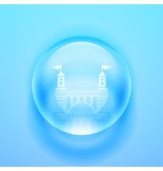 Glass sphere vector