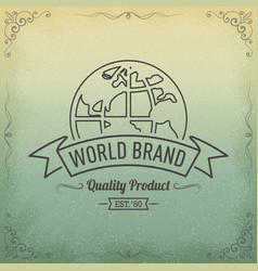 Globe concept logo vector