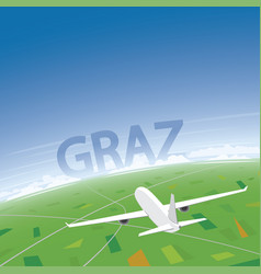 Graz flight destination vector