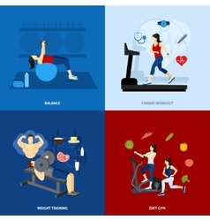 Gym workout people vector