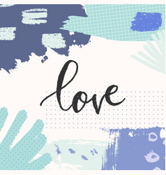 Hand drawn floral abstract love greeting card vector