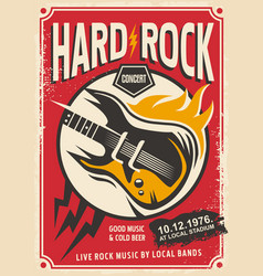 Hard rock event poster template vector