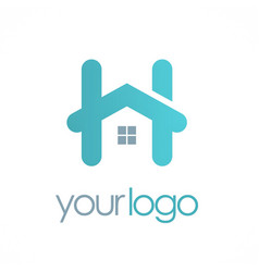 Home letter h logo vector