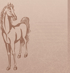 horse and trash background vector image