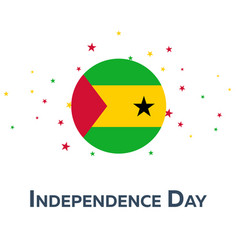 Independence day of sao tome and principe vector