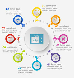 infographic template with navigation icons vector image