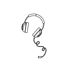 Isolated headphone design vector image