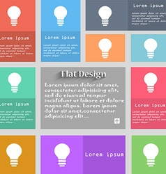 Light lamp Idea icon sign Set of multicolored vector image