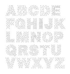 line network alphabet vector image