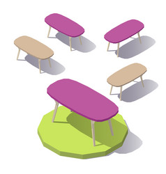 Lowpoly office table vector