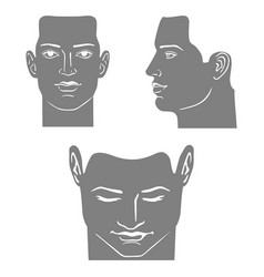 Man mask head set vector