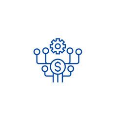 marketing development line icon concept marketing vector image