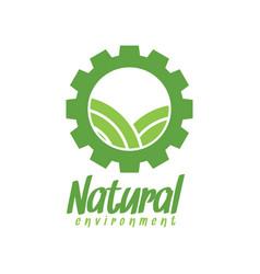 natural environment logo design inspiration vector image