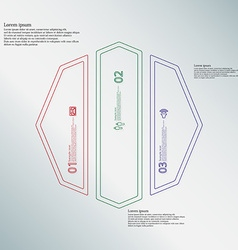 Octagon infographic template divided to three vector