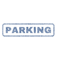 Parking textile stamp vector