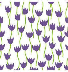 pattern with tulips vector image