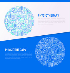 Physiotherapy concept in circle vector