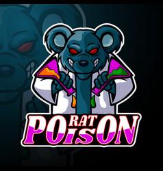 Rat esport logo mascot design vector